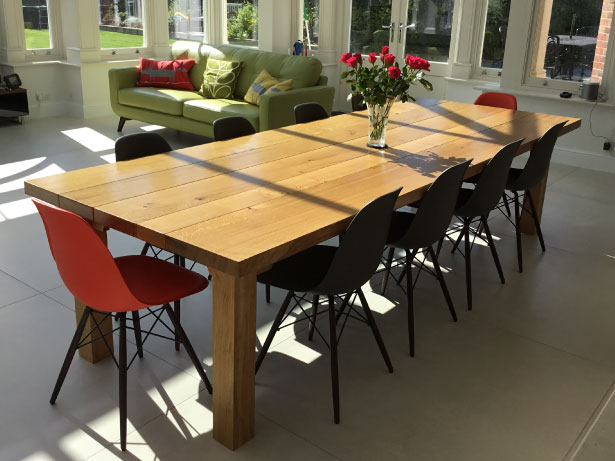 Custom Oak Dining Tables