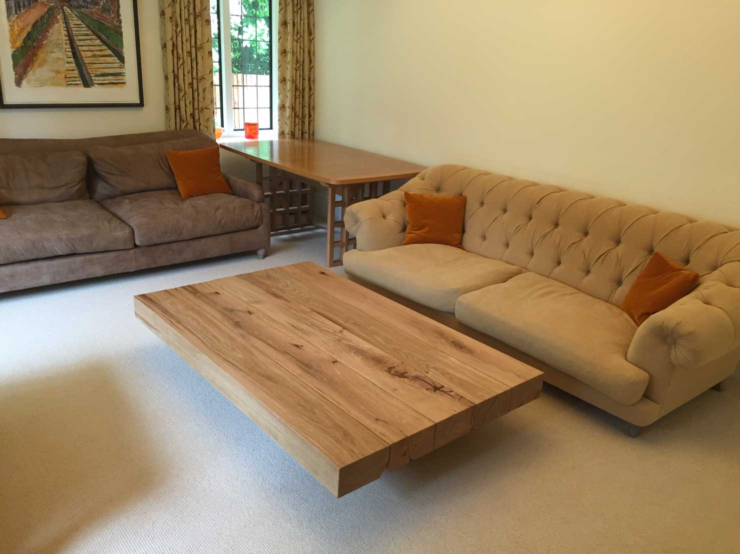 A Floating Style  Beam  M Coffee Table