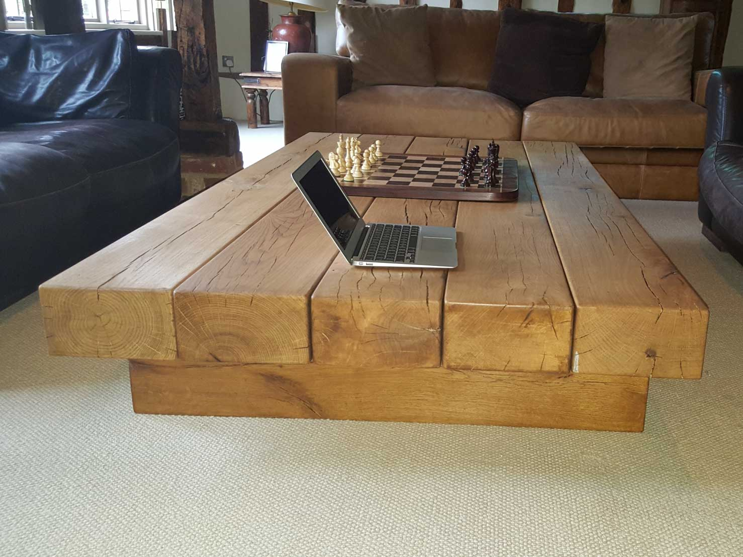 Large oak beam coffee table uk made from abacus tables arabica large oak beam coffee table uk made from geotapseo Choice Image
