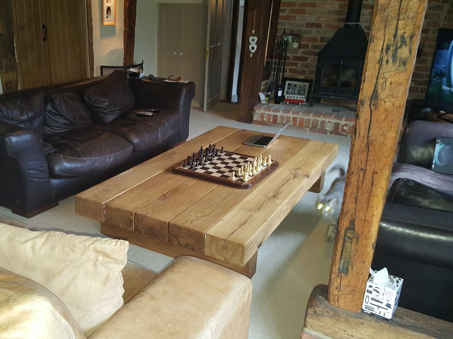 Extra Large Oak Coffee Table Project 334 Abacus Tables