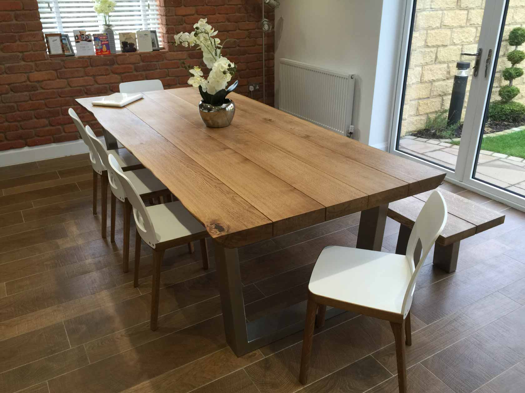 rustic oak dining table abacus tables