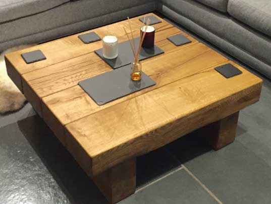 Square Solid Oak Coffee Table Project #305