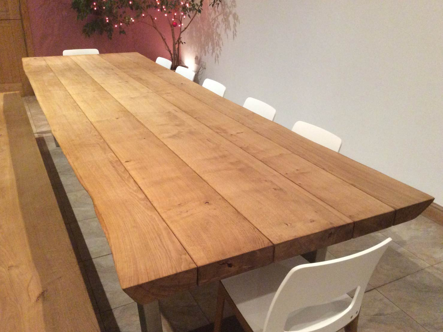 oak-dining-table-sets-from-abacus-tables-komodo-3.3-with-matching-bench-&-chairs-project-454