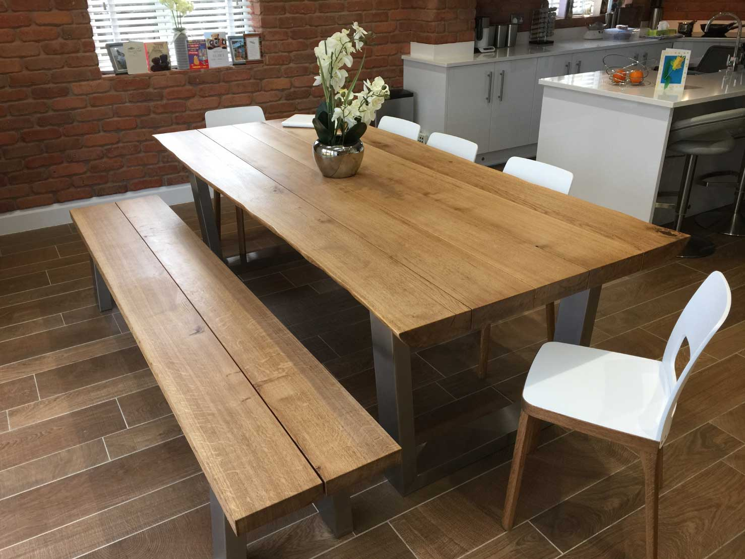 rustic-dining-table-and-chair-set-from-abacus-tables-komodo-2.4m-matching-chairs-&-bench-project-341