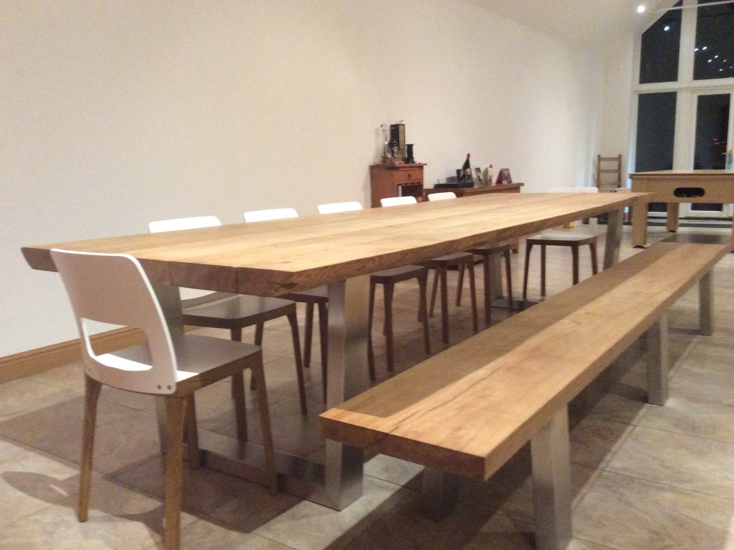wood-dining-table-set-from-abacus-tables-komodo-3.3-with-matching-bench-&-chairs-project-454