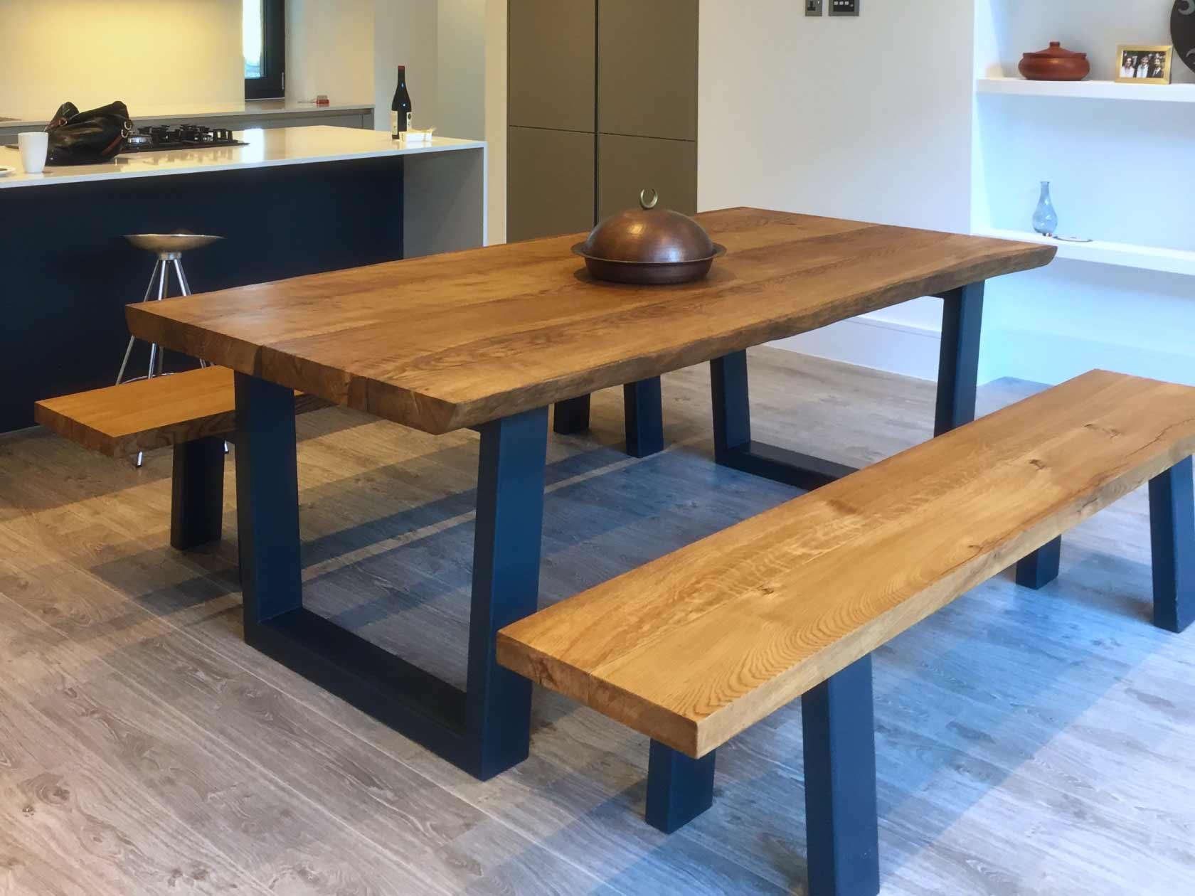 Rustic Dining Table With Bench From Abacus Tables