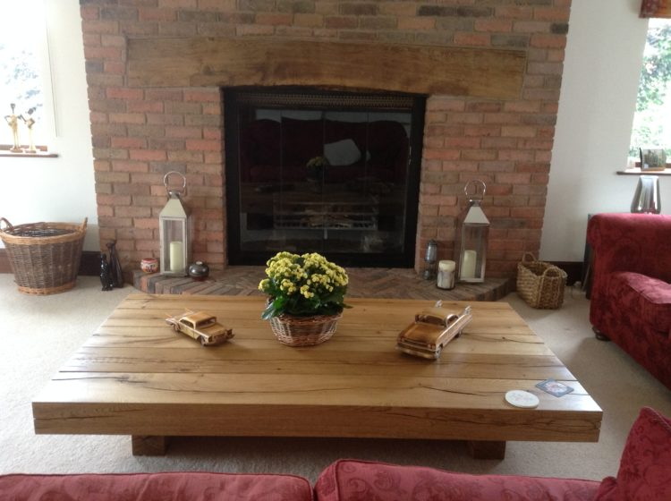 Chunky oak coffee table project 509 Abacus Tables image2