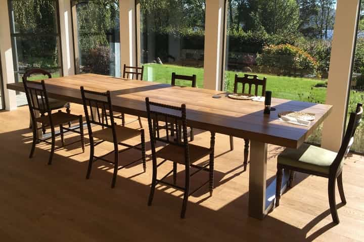 Large Rustic Dining Table Abacus Tables