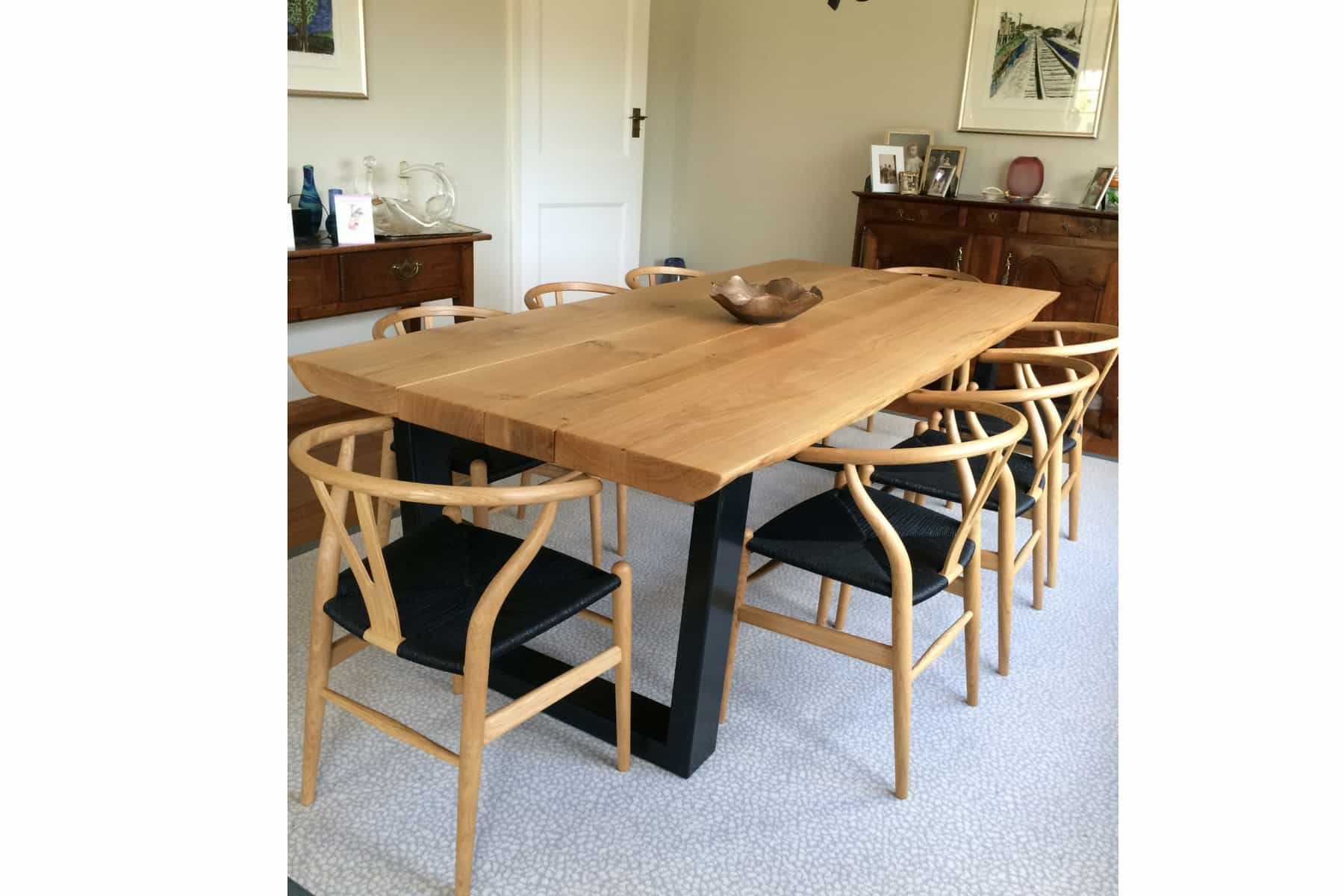 rustic dining table and chairs project 578 Abacus Tables image 1