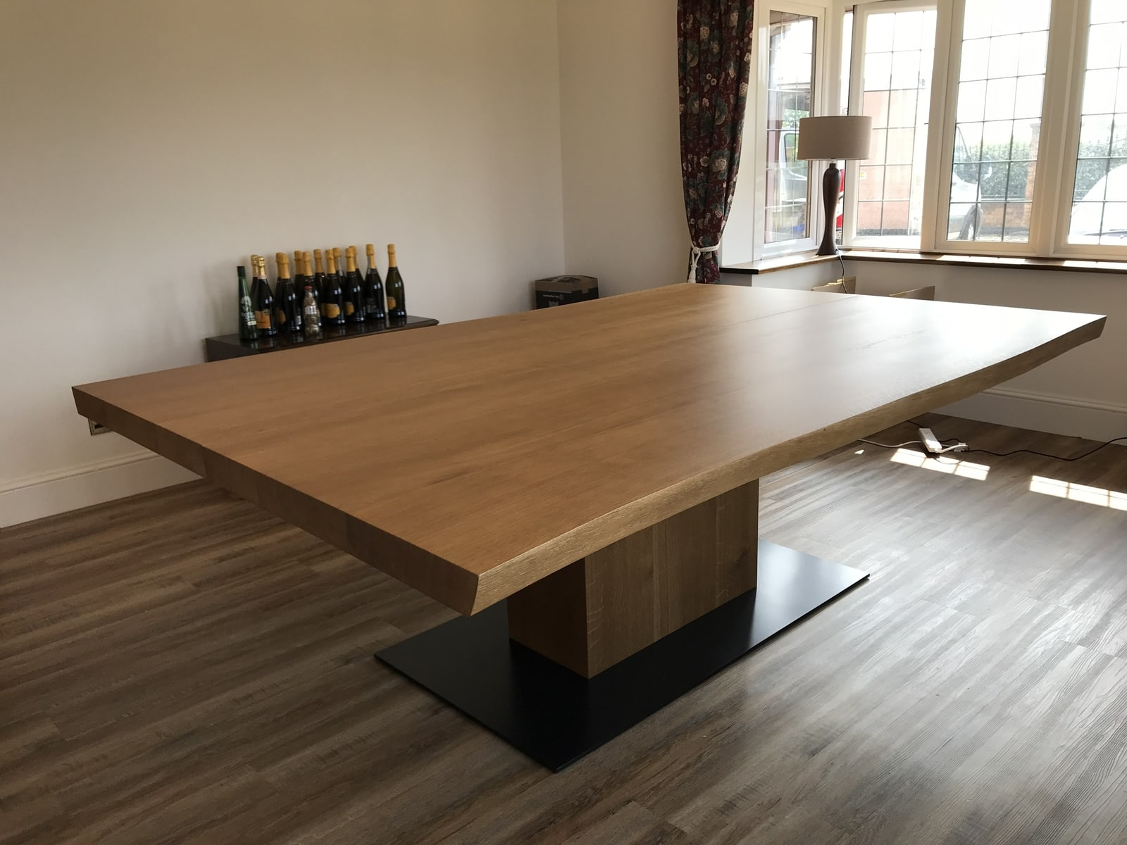 Bespoke oak dining table project 670 Abacus Tables image 1