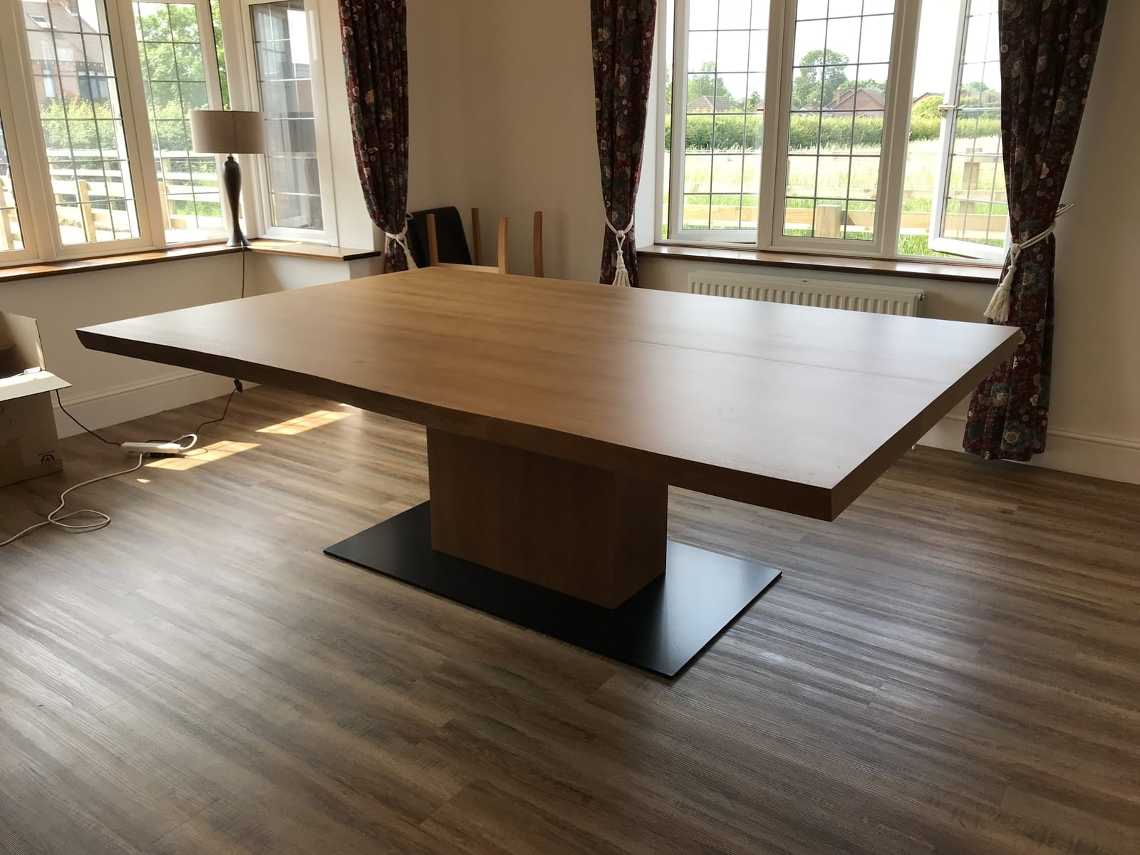 Bespoke oak dining table project 670 Abacus Tables image 2