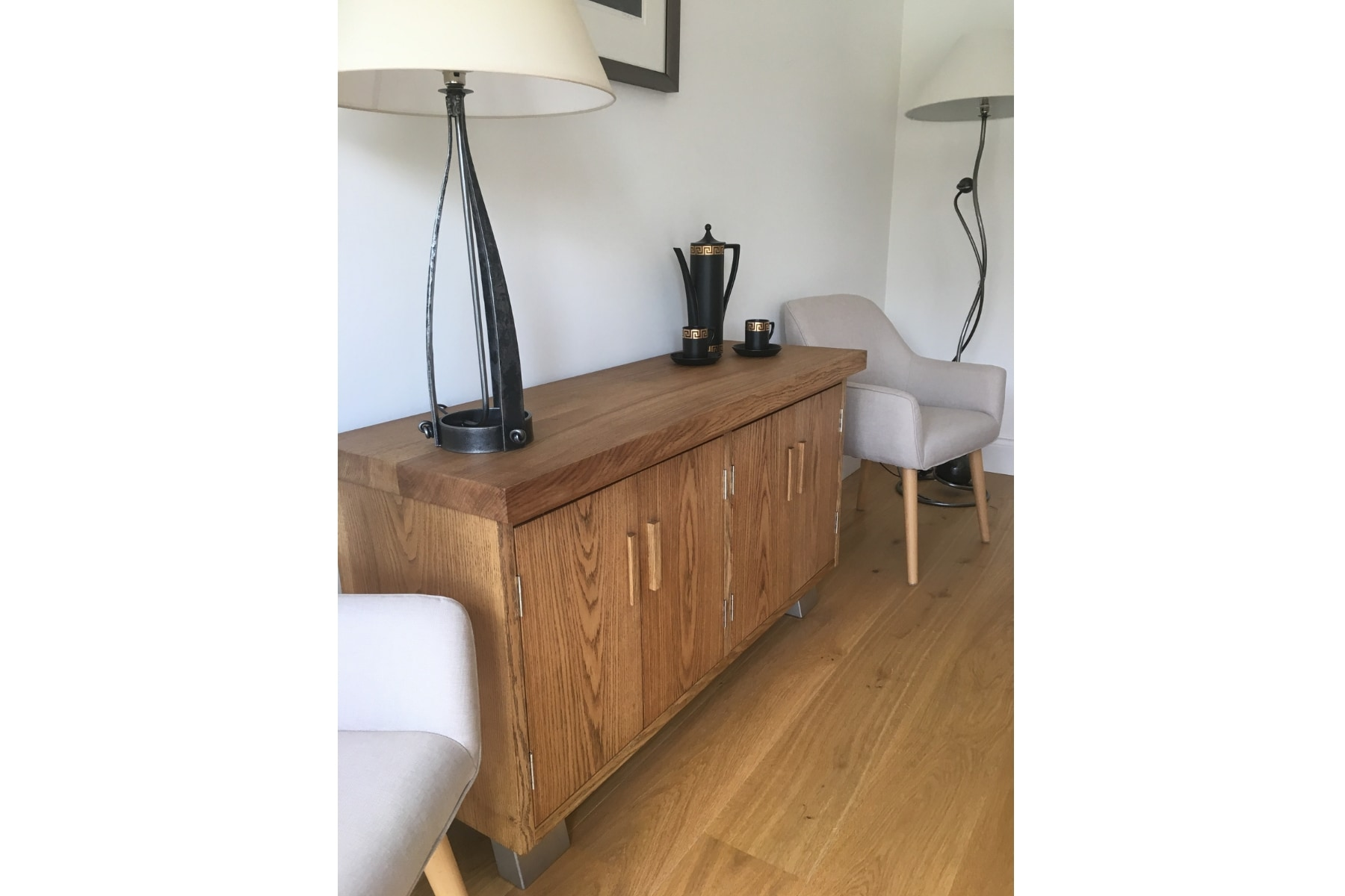 Large oak dining table project 513 Abacus Tables image 4
