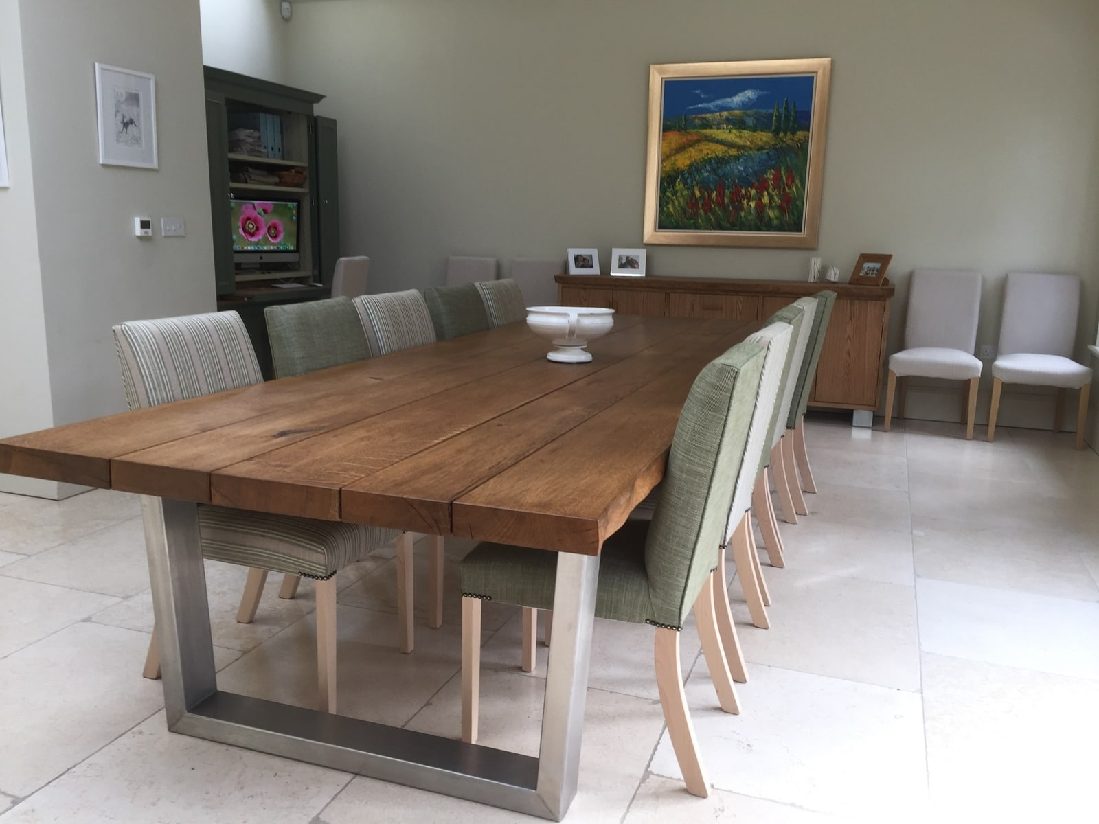 Large oak sideboard and dining table setproject 531Abacus Tables image 1