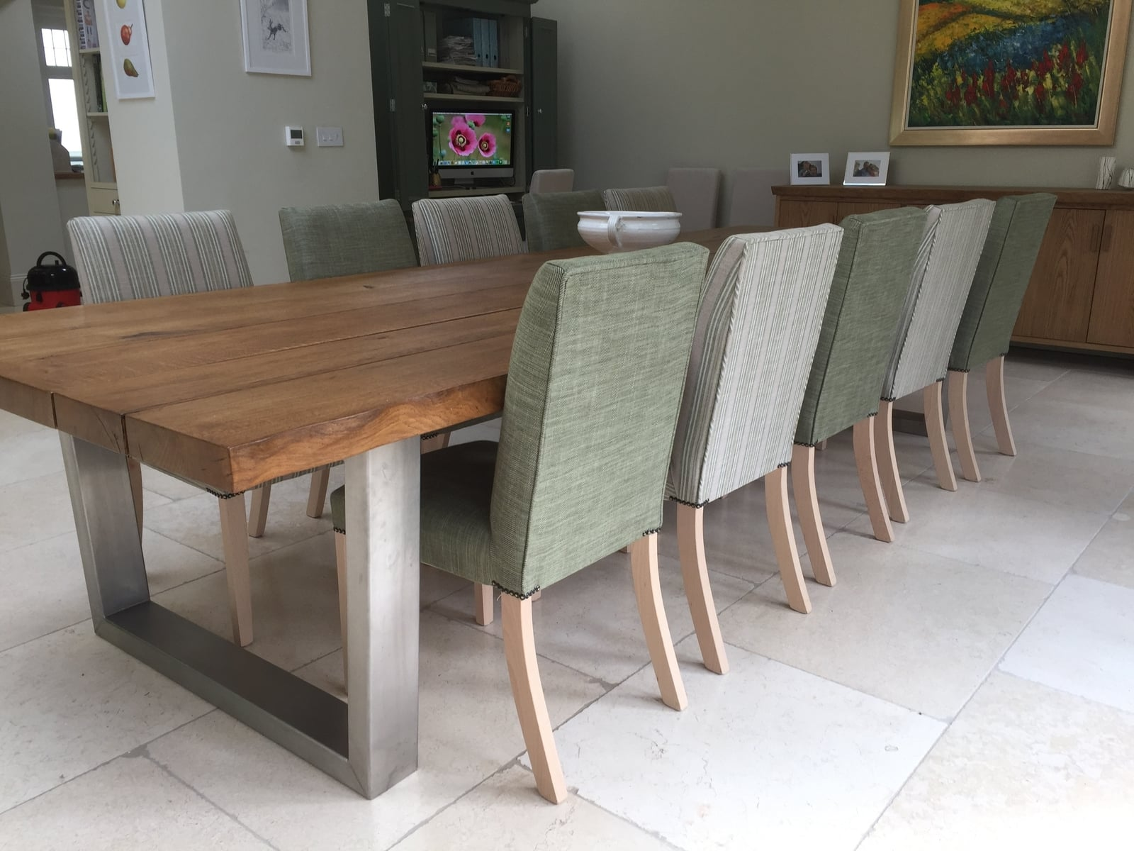 Large oak sideboard and dining table setproject 531Abacus Tables image 2