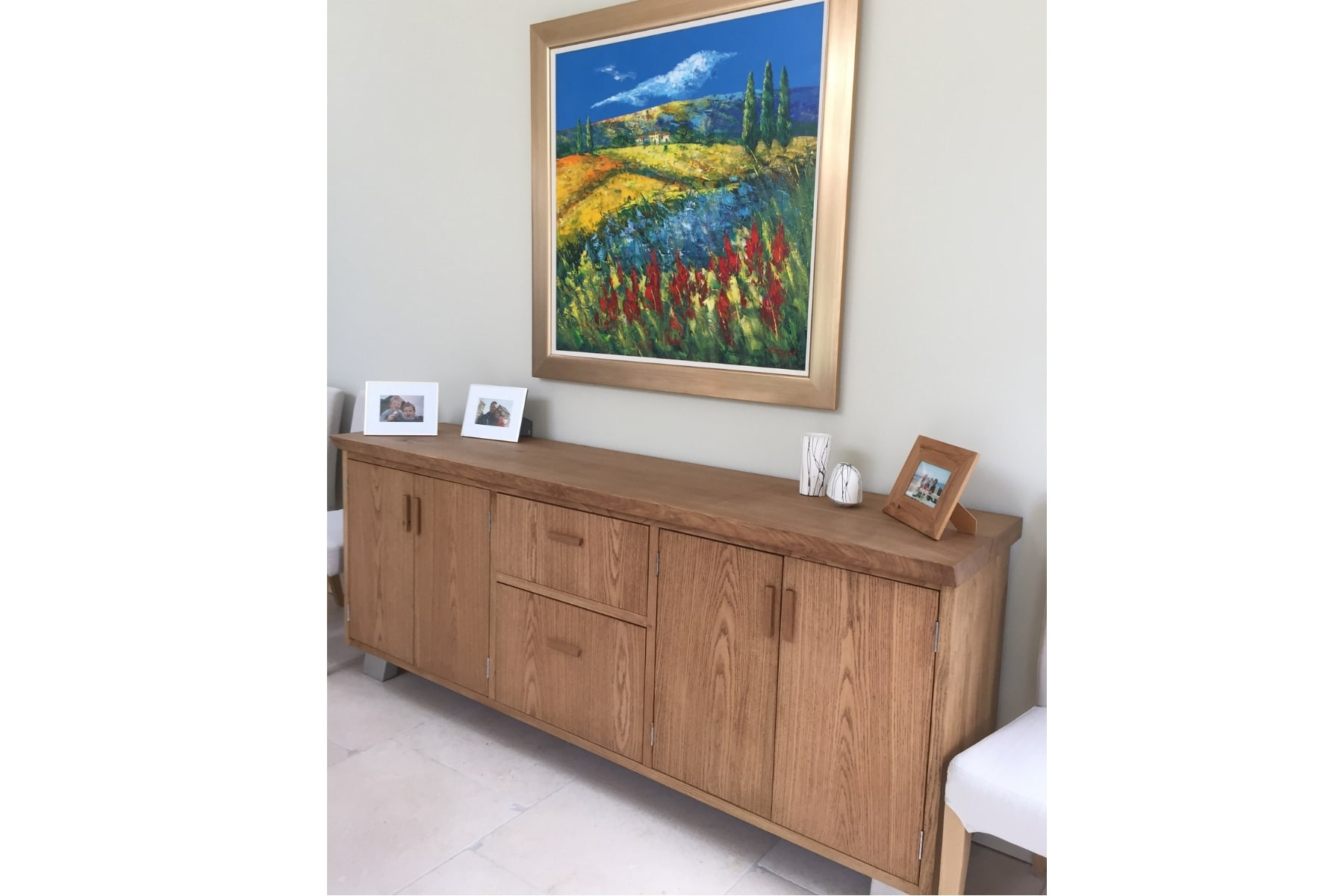 Large oak sideboard and dining table setproject 531Abacus Tables image 3