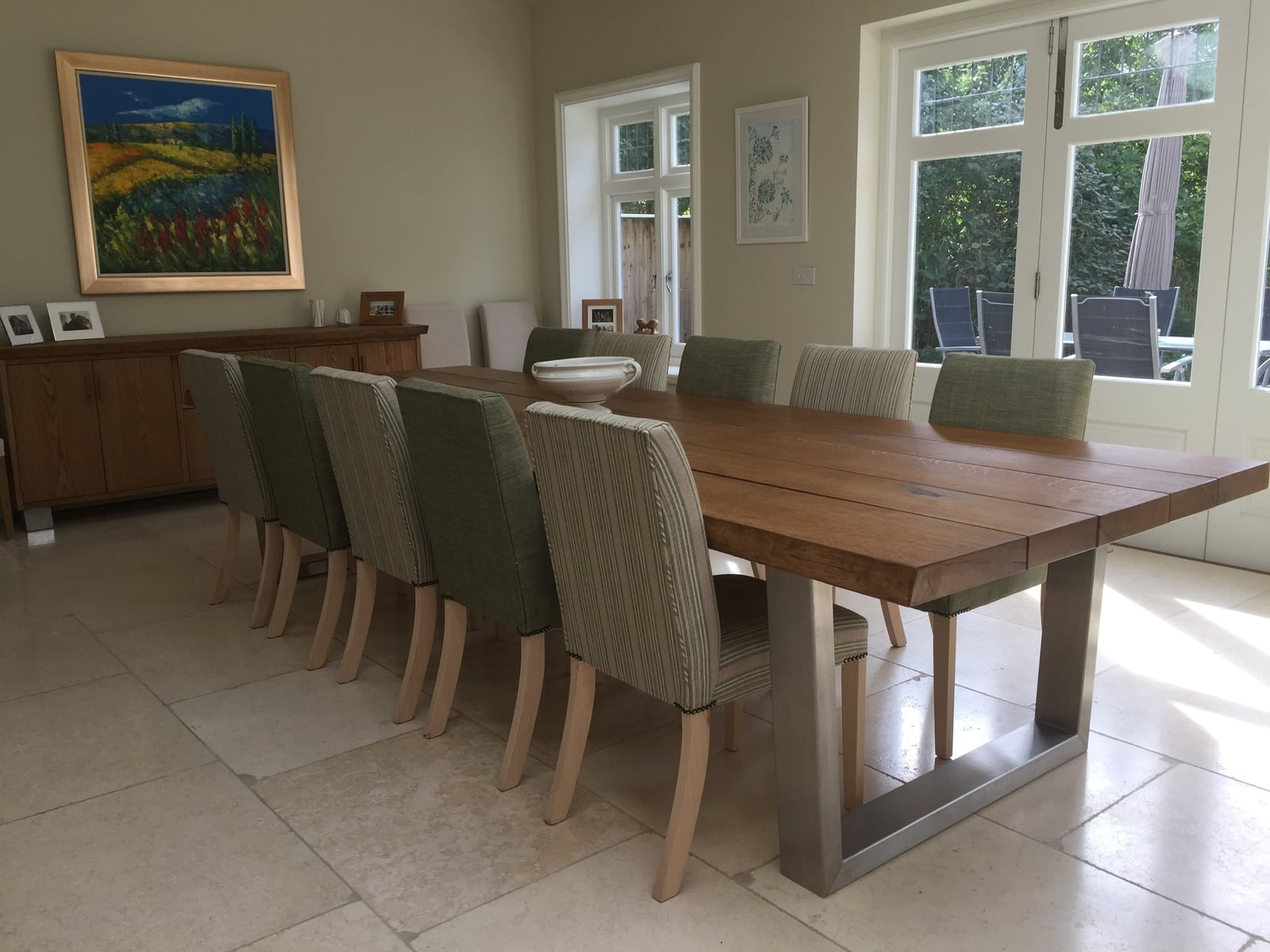 Large oak sideboard and dining table setproject 531Abacus Tables image 4