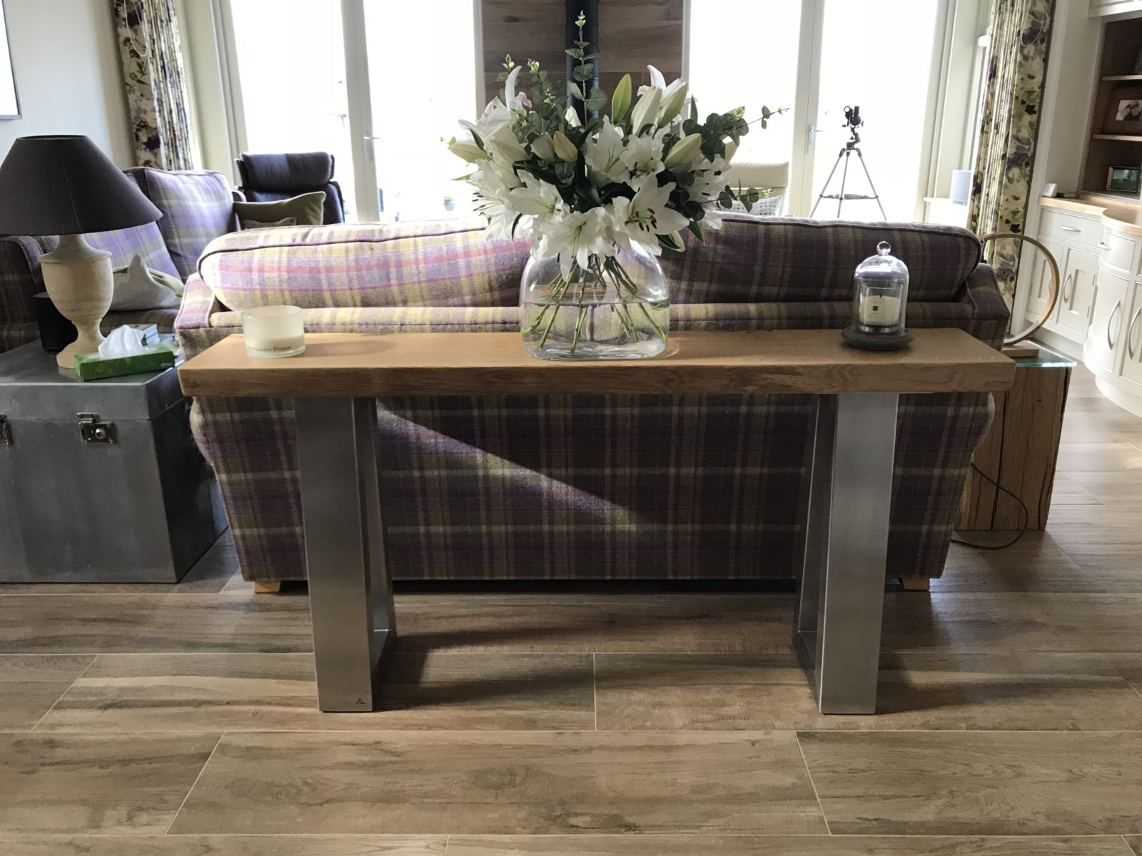 Narrow Console table project 618 Abacus Tables image 1