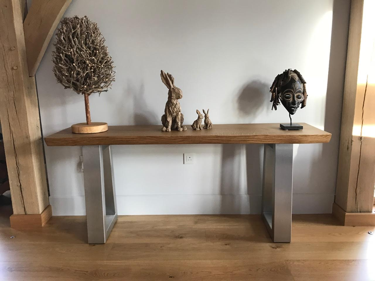 Rustic Console table project 614 Abacus Tables image 1