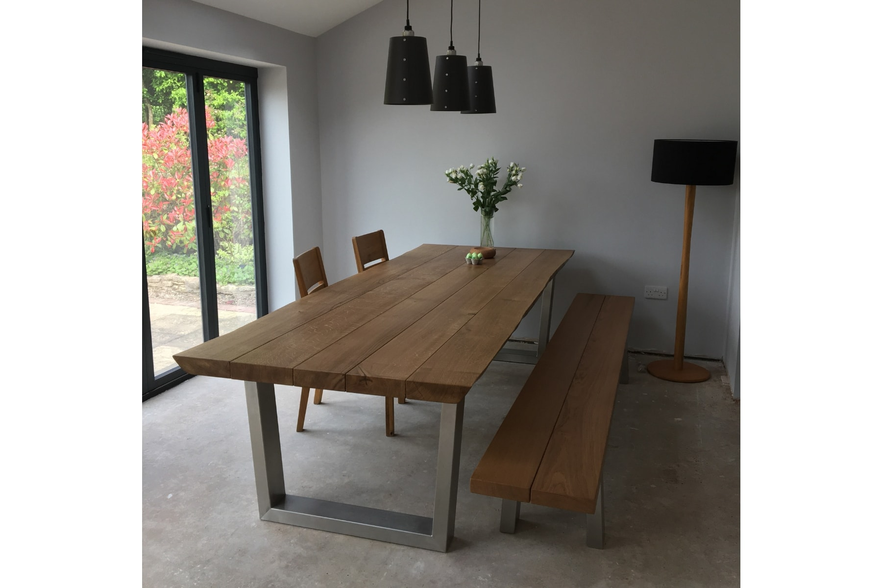 Waney edge dining table project 475 Abacus Tables image 1