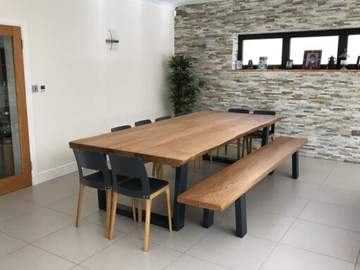 Large Oak Dining Table Project#624
