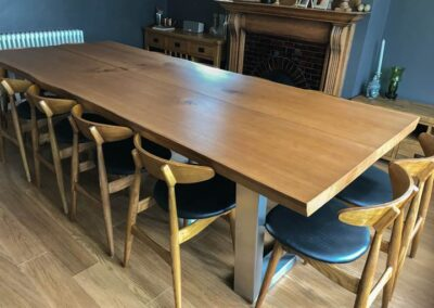 Large Oak Dining Table Project#673