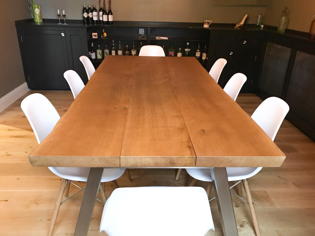 Bespoke Oak Dining Table by Abacus Tables