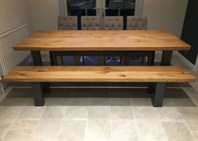 Large oak Dining PROJECT#715