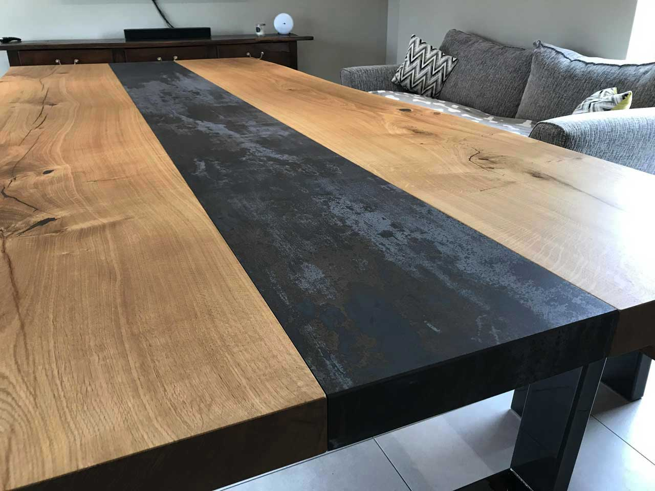 Dining table-with-oak and-dekton-top-Abacus-Tables