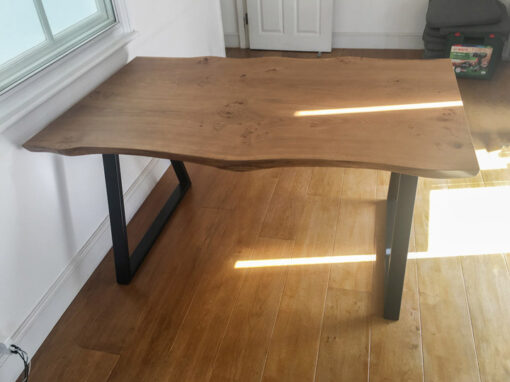 Live Edge Dining Table Project#806