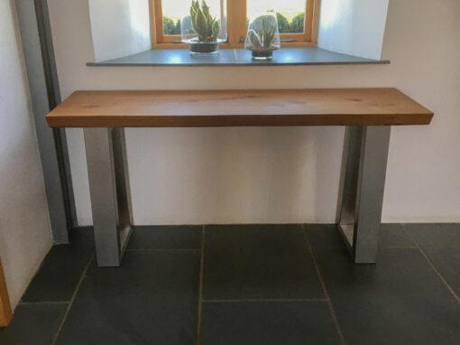 Oak Console table Project#867-2