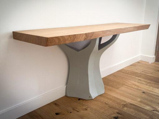 Oak Console Table Project #949-3